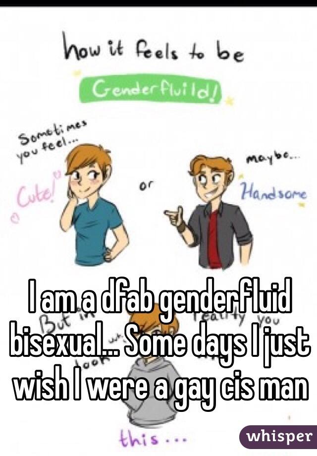 I am a dfab genderfluid bisexual... Some days I just wish I were a gay cis man
