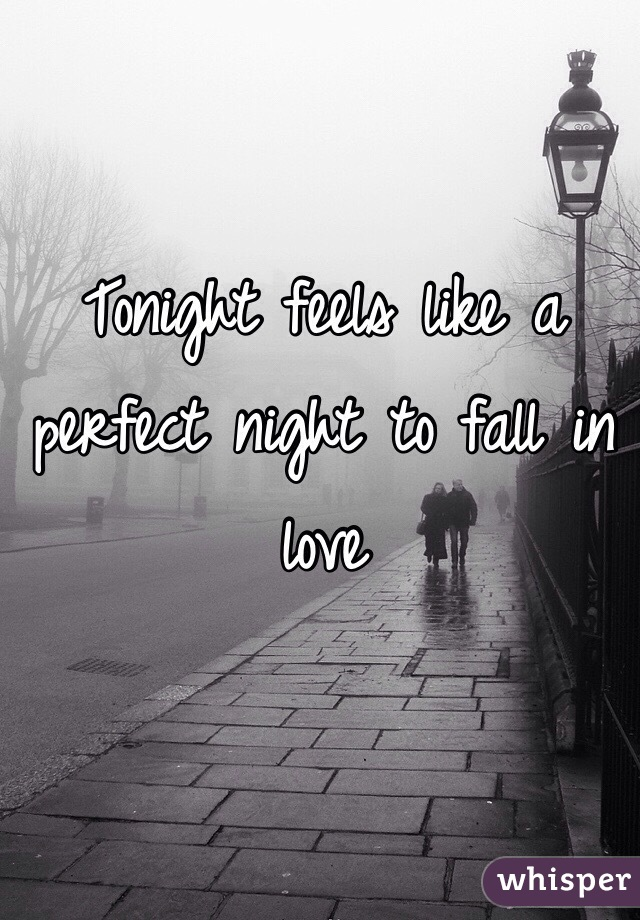 Tonight feels like a perfect night to fall in love