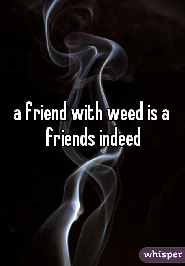 a friend with weed is a friends indeed
