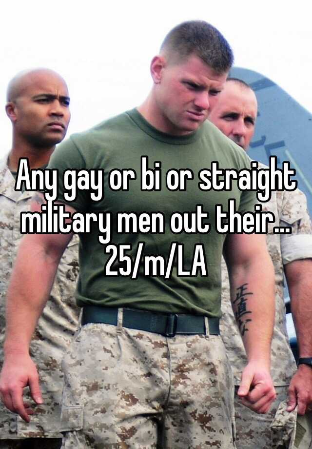 Straight military men