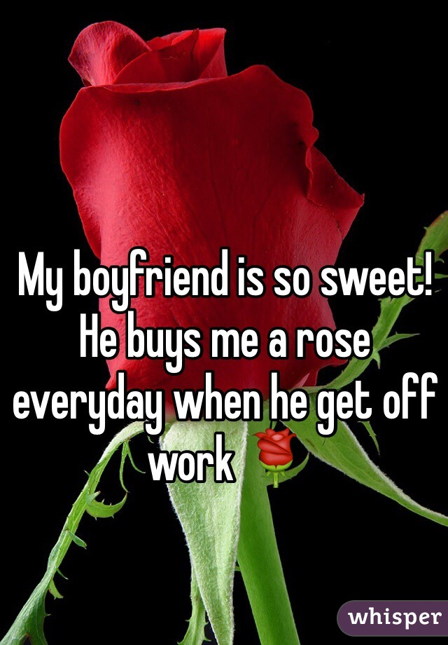 My boyfriend is so sweet! He buys me a rose everyday when he get off work 🌹