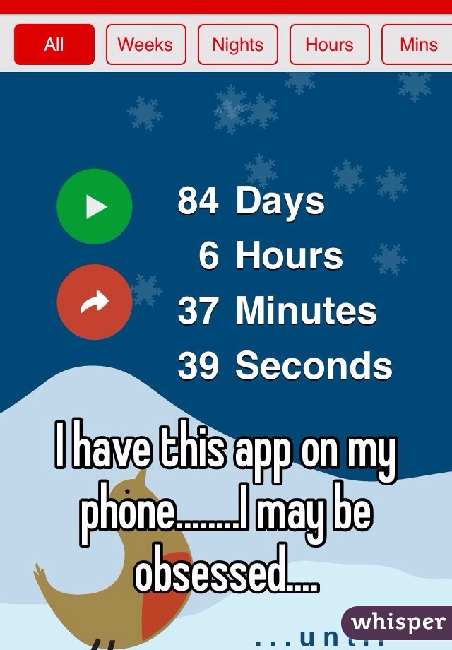 I have this app on my phone........I may be obsessed....