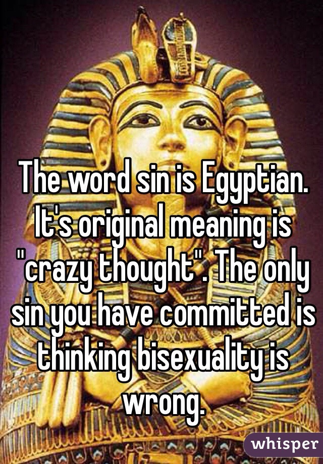 Is bisexualism a sin