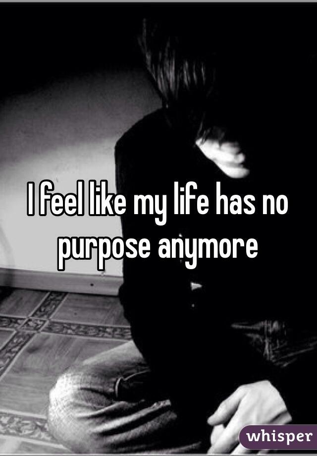 I feel like my life has no purpose anymore