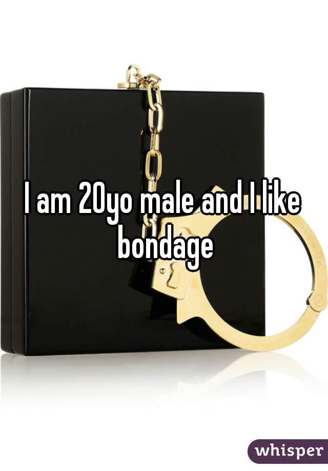 I am 20yo male and I like bondage