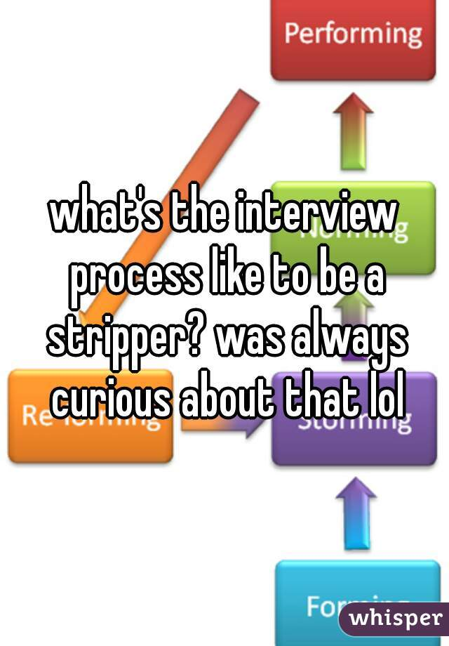 what's the interview process like to be a stripper? was always curious about that lol
