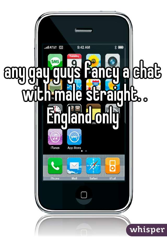 any gay guys fancy a chat with male straight. . England only
