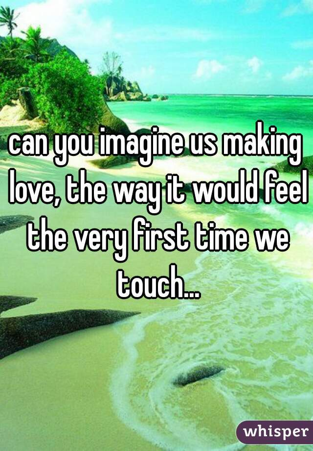 can you imagine us making love, the way it would feel the very first time we touch...
