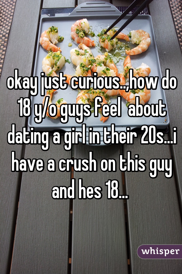okay just curious..,how do 18 y/o guys feel  about dating a girl in their 20s...i have a crush on this guy and hes 18...