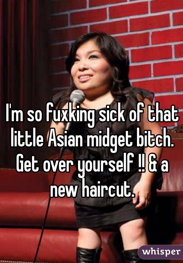 Asian leather bitch