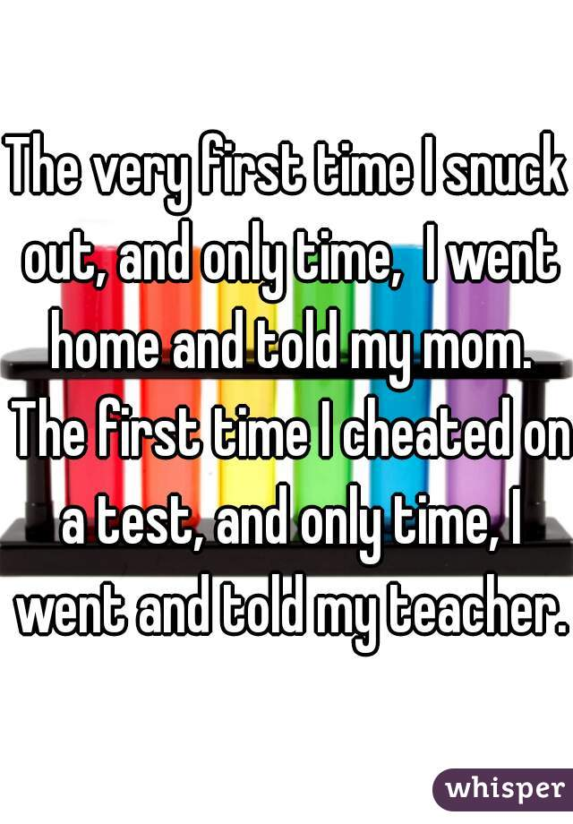 time cheating first Real moms