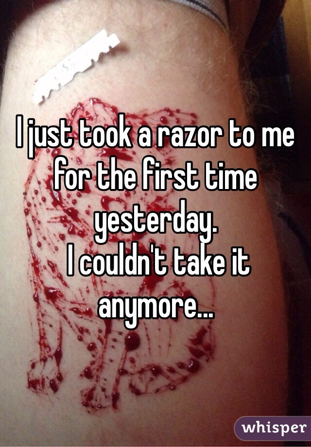 I just took a razor to me for the first time yesterday.  I couldn't take it anymore...