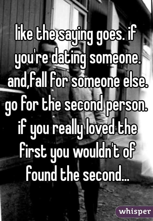 dating someone in love with someone else