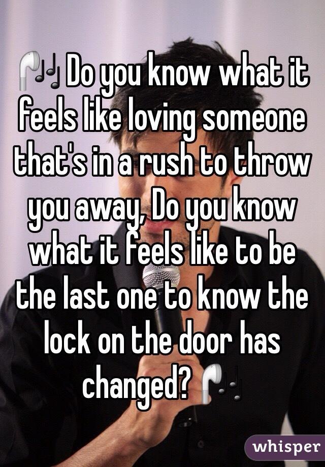 What it feels like loving someone