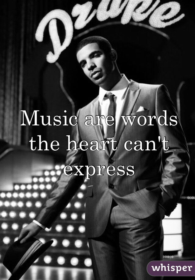 Music are words the heart can't express