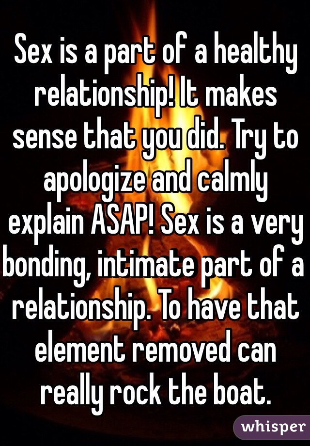 Is sex part of a relationship