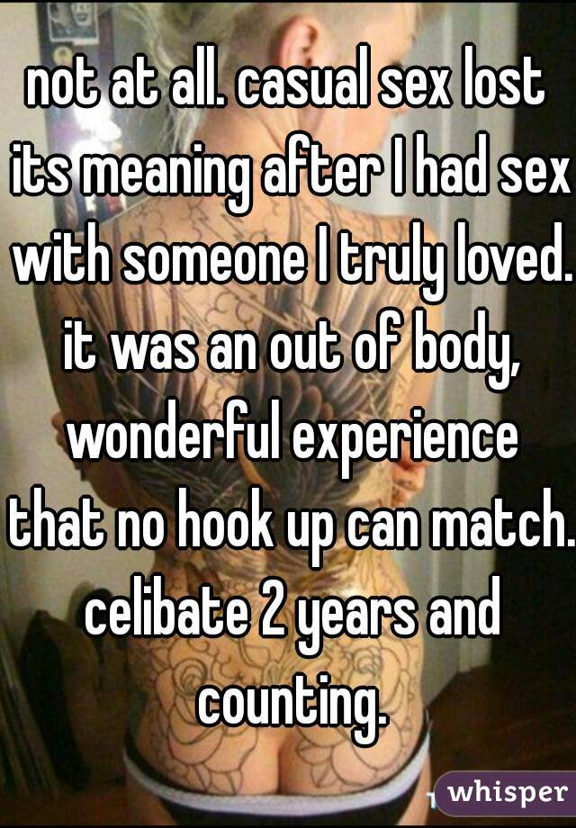 Casual hook up meaning