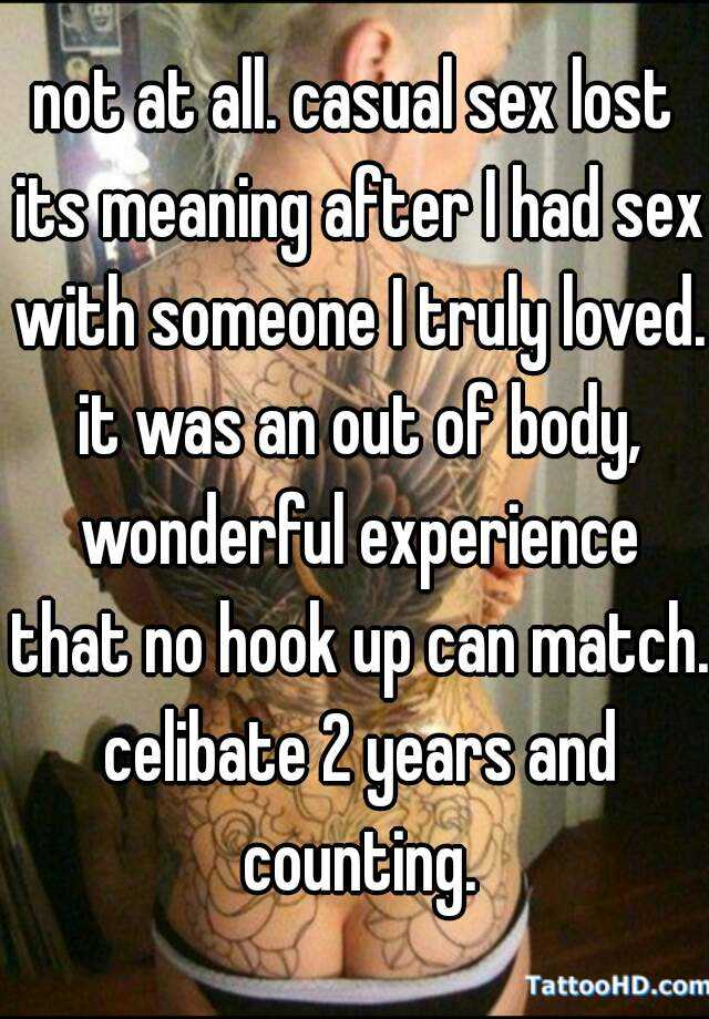 Meaning of no sex