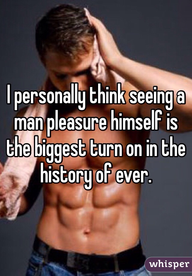 Man pleasure himself