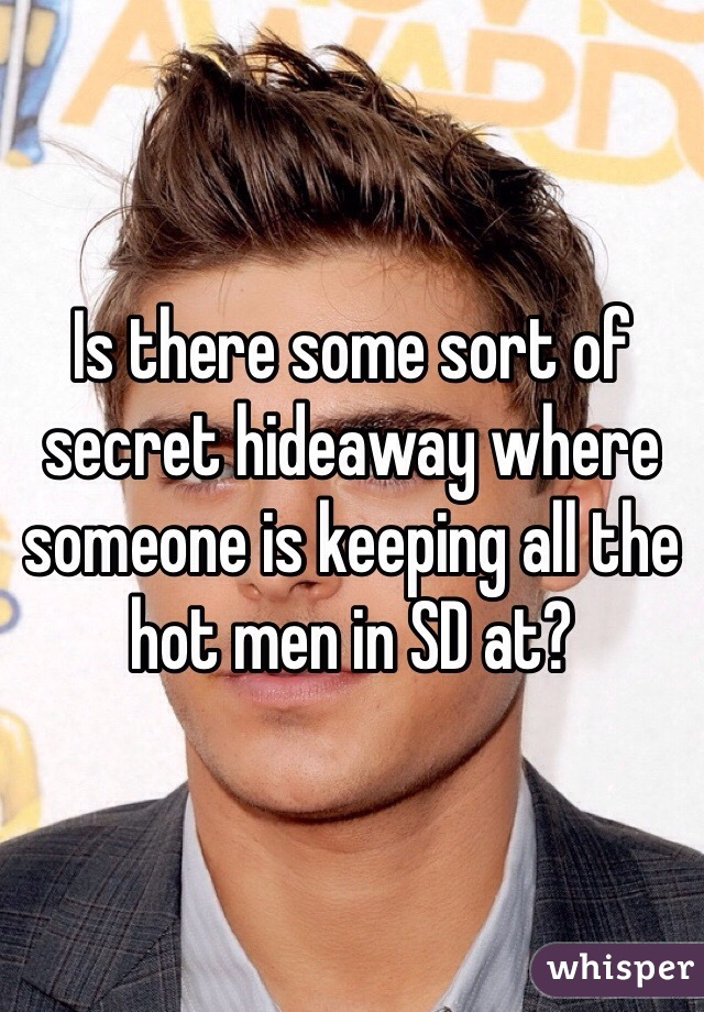 Is there some sort of secret hideaway where someone is keeping all the hot men in SD at?