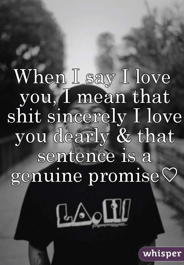 when i say i love you