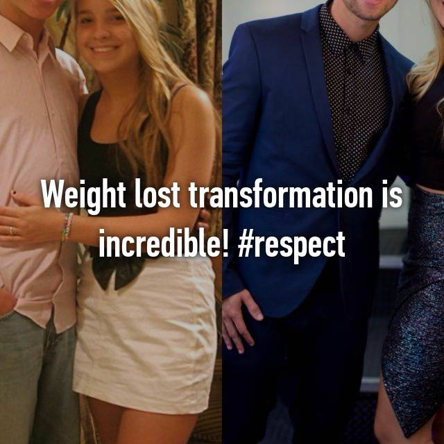 Weight lost transformation is incredible! #respect
