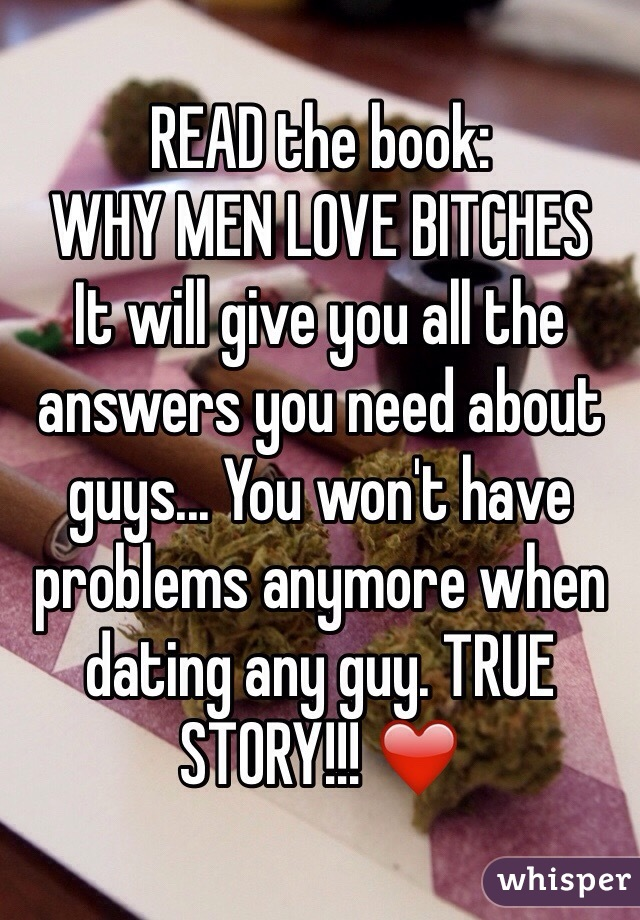 why guys love bitches book