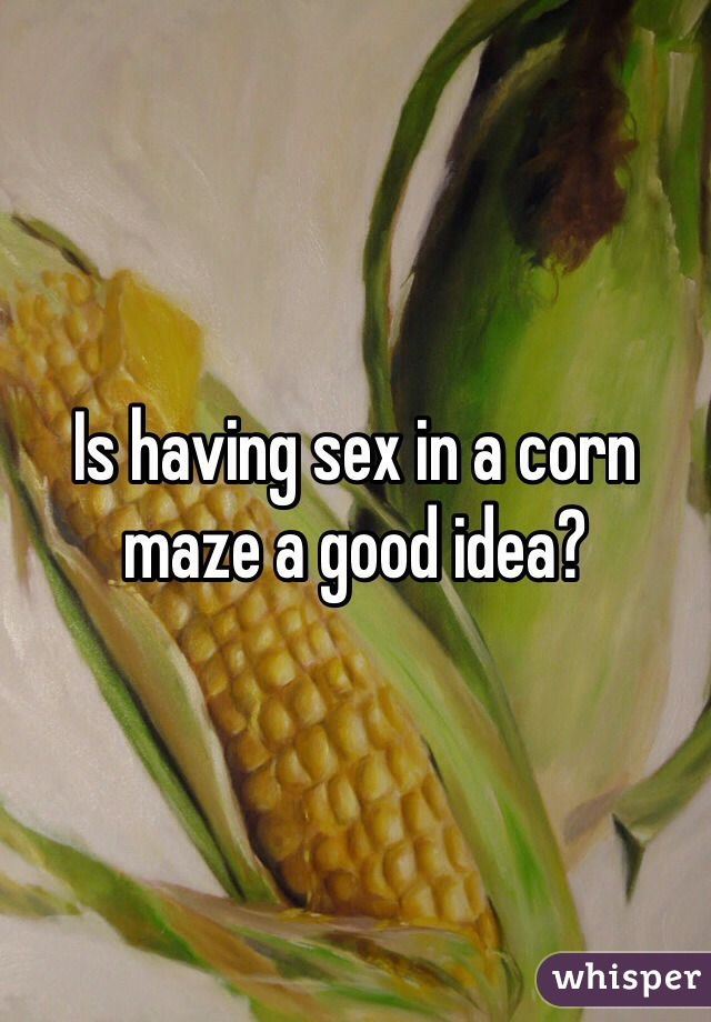 Sex in a corn maze