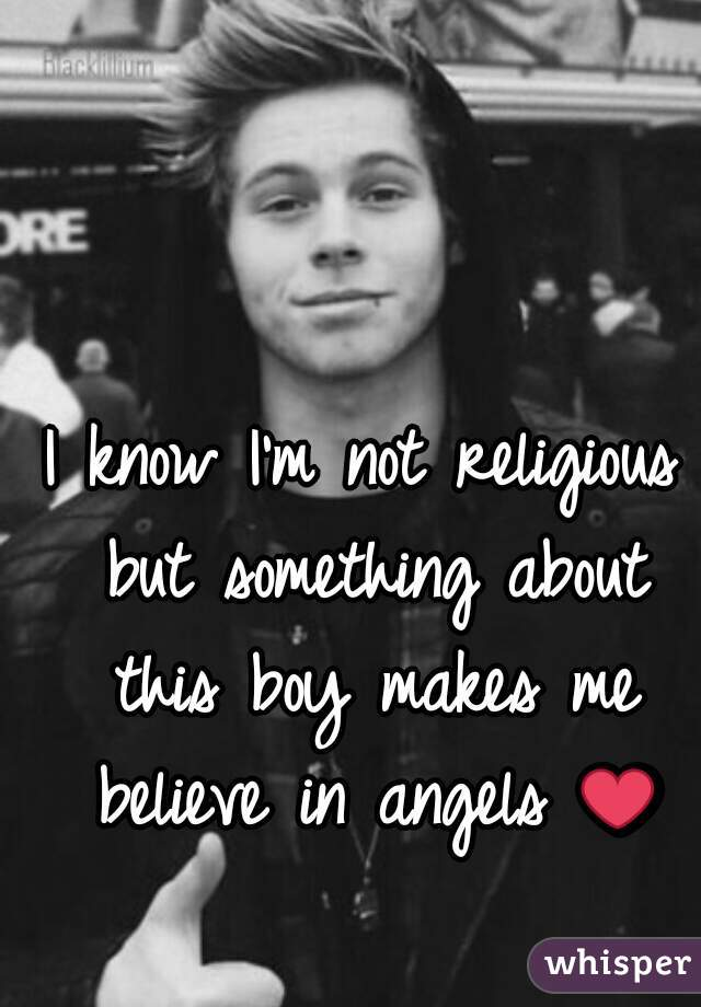 I know I'm not religious but something about this boy makes me believe in angels ❤