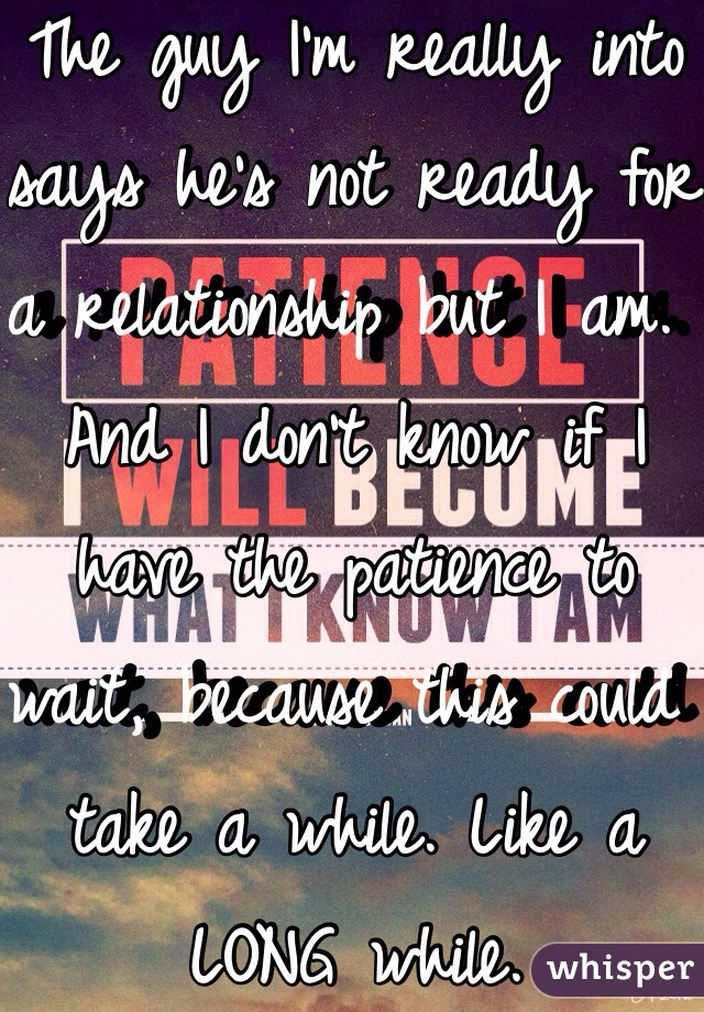How to know if he is ready for a relationship