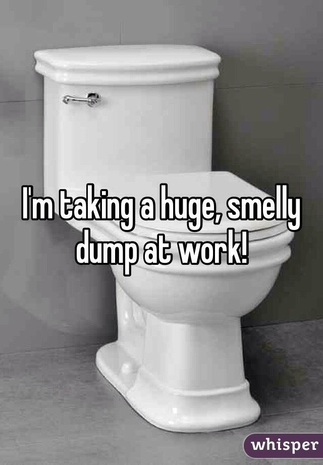 I'm taking a huge, smelly dump at work!