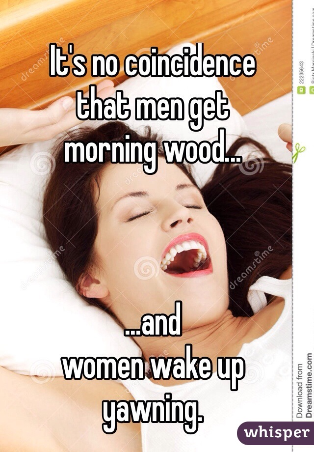 Why guys get morning wood