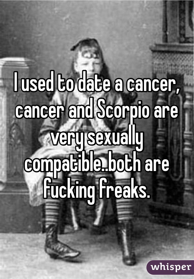 Scorpio and cancer sexually compatible