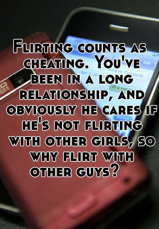 What counts as flirting