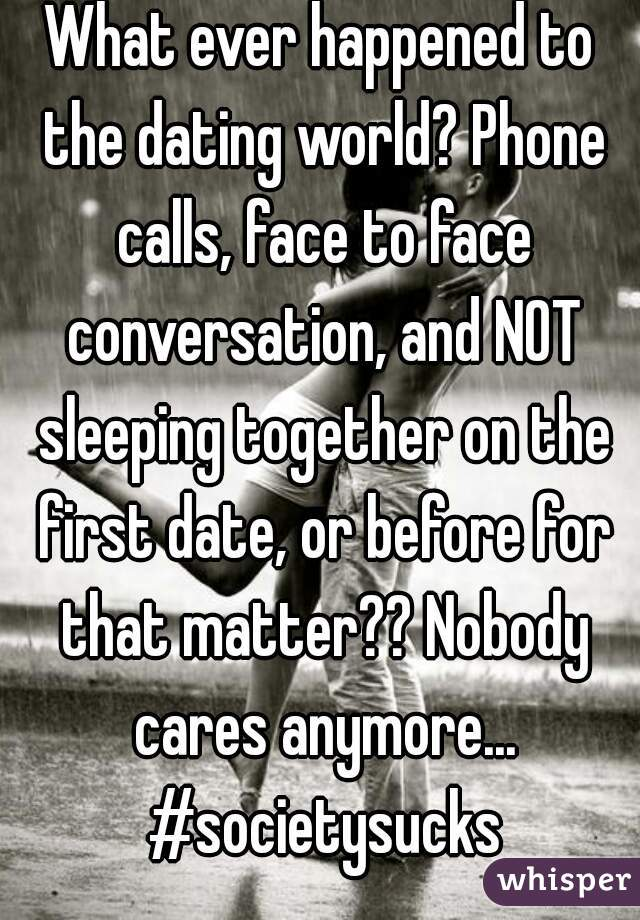 sleeping together on the first date