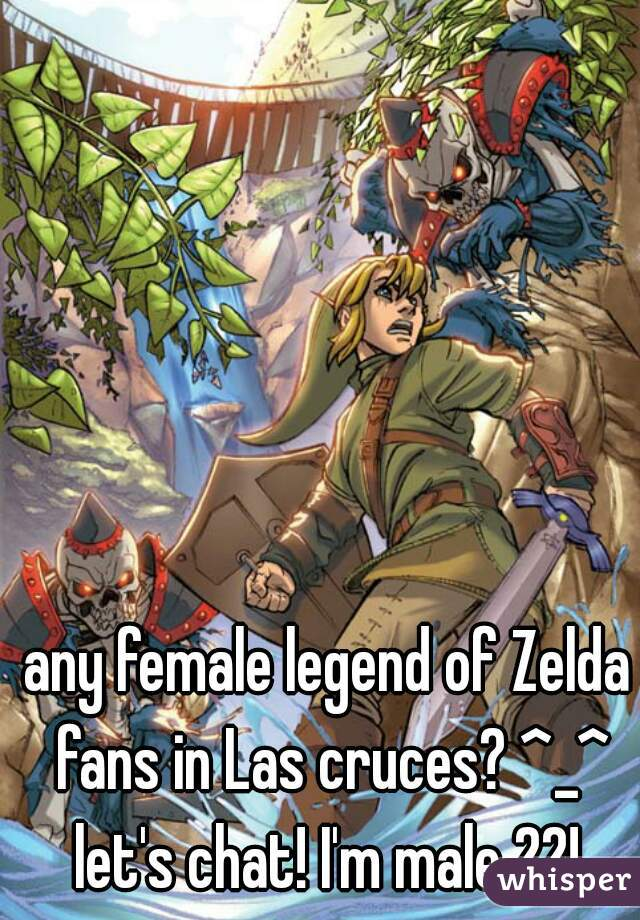 any female legend of Zelda fans in Las cruces? ^_^ let's chat! I'm male 22!