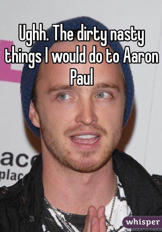 Ughh. The dirty nasty things I would do to Aaron Paul