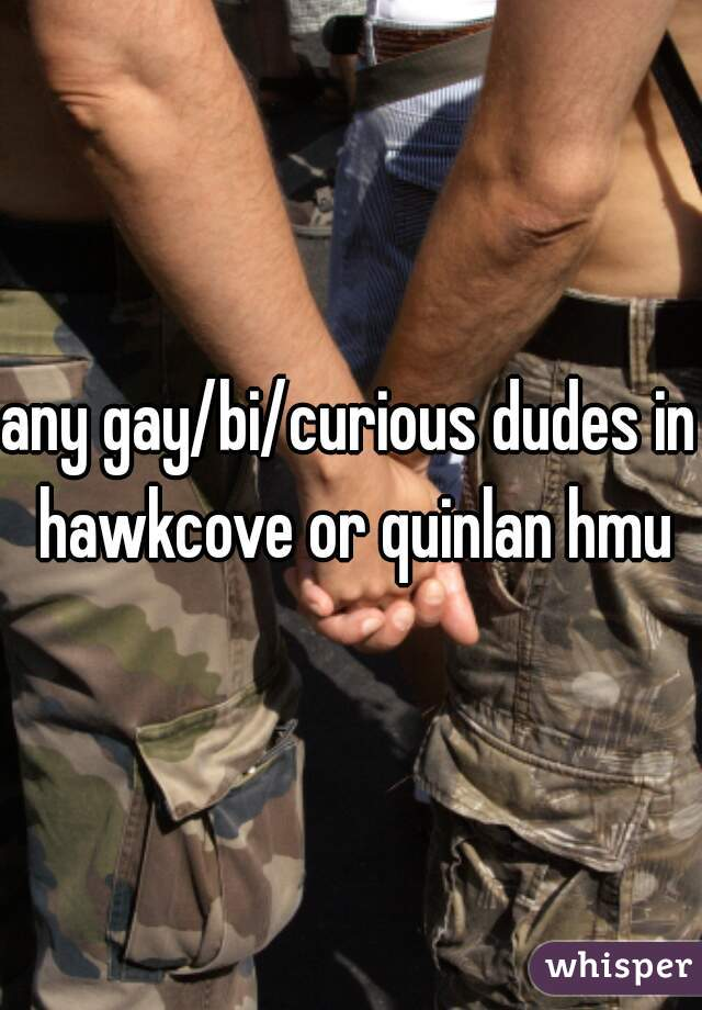 any gay/bi/curious dudes in hawkcove or quinlan hmu