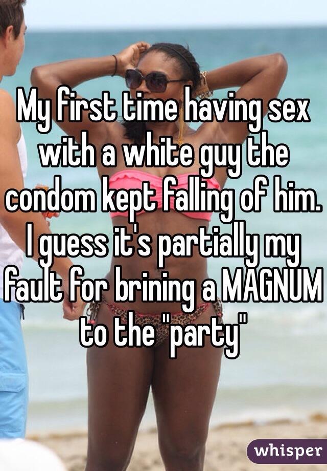 Condom guys sex party
