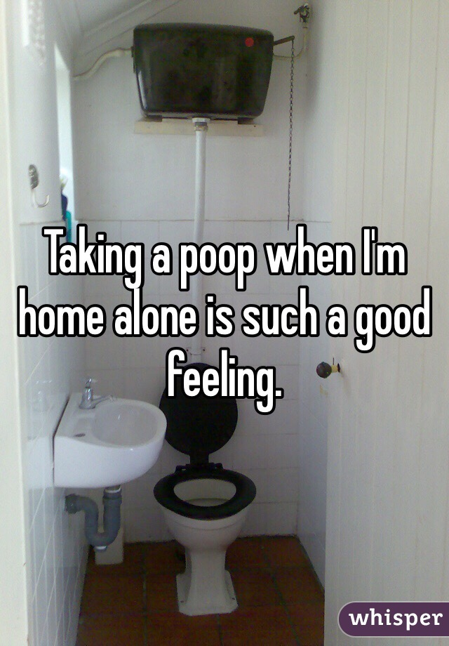 Taking a poop when I'm home alone is such a good feeling.