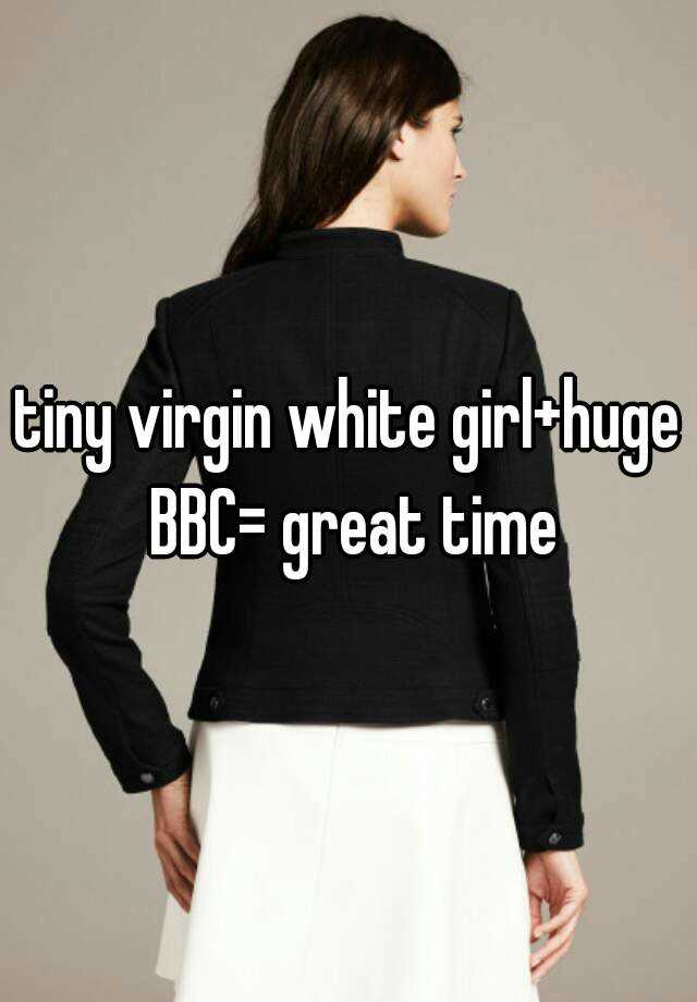 White girl first bbc