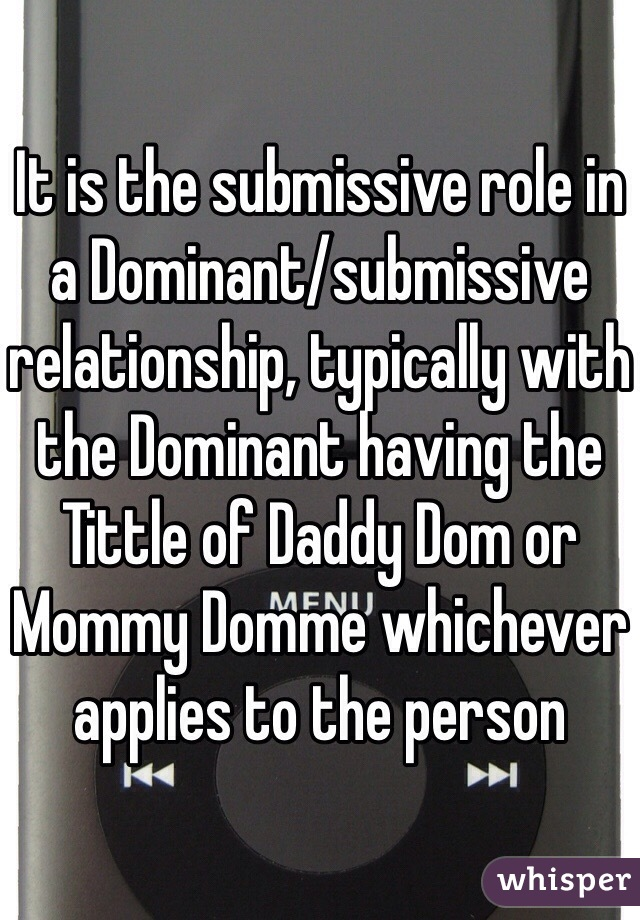 Online dominant submissive relationship