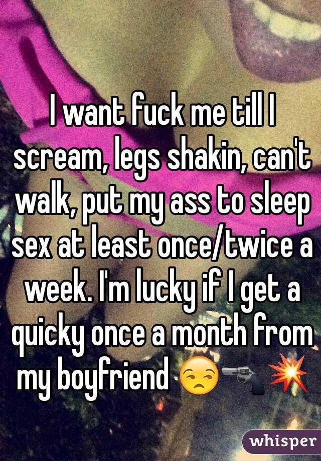 Fuck me till i scream