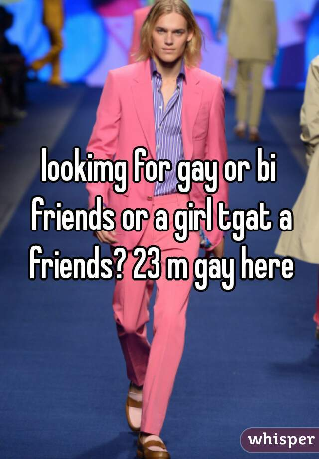 lookimg for gay or bi friends or a girl tgat a friends? 23 m gay here