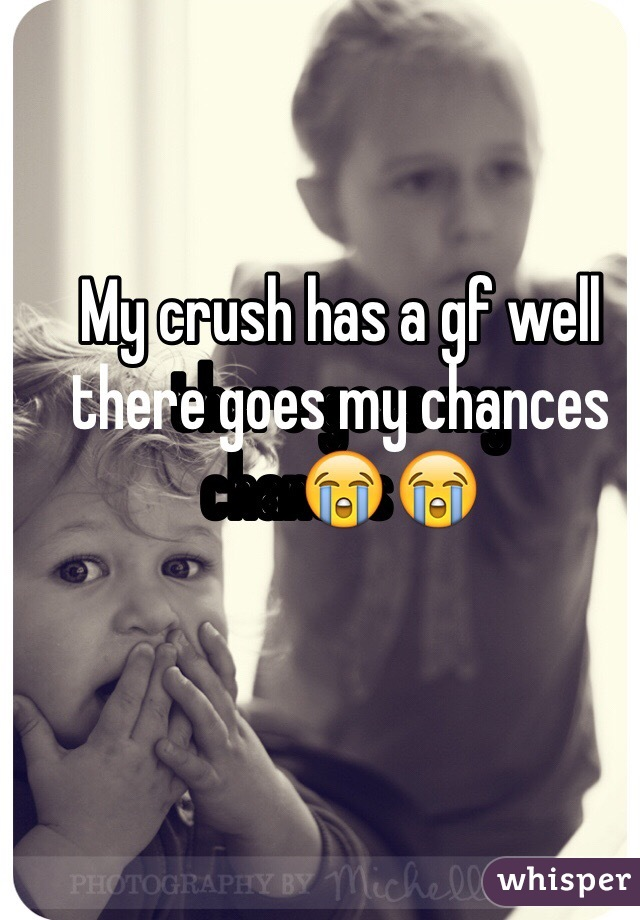 My crush has a gf well there goes my chances😭