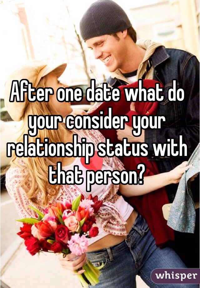 After one date what do your consider your relationship status with that person?