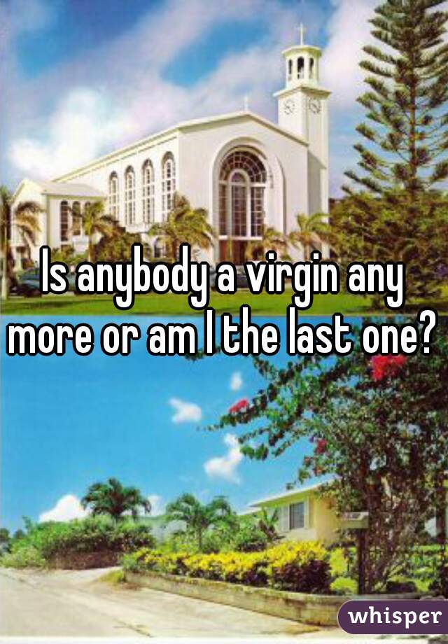 Is anybody a virgin any more or am I the last one?