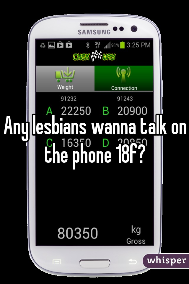 Any lesbians wanna talk on the phone 18f?