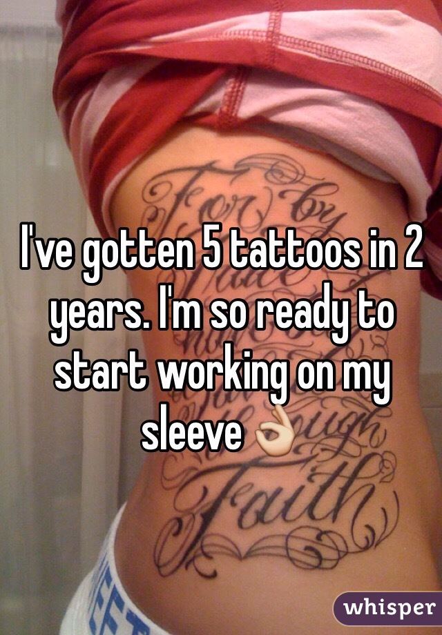 I've gotten 5 tattoos in 2 years. I'm so ready to start working on my sleeve👌