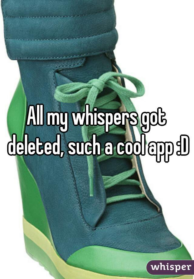 All my whispers got deleted, such a cool app :D